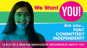 Want to be the next GRADUAN® Ambassador?
